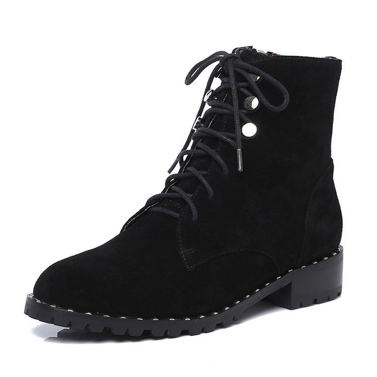 Fekkai 马丁靴 短靴 全真皮短靴 细带短靴