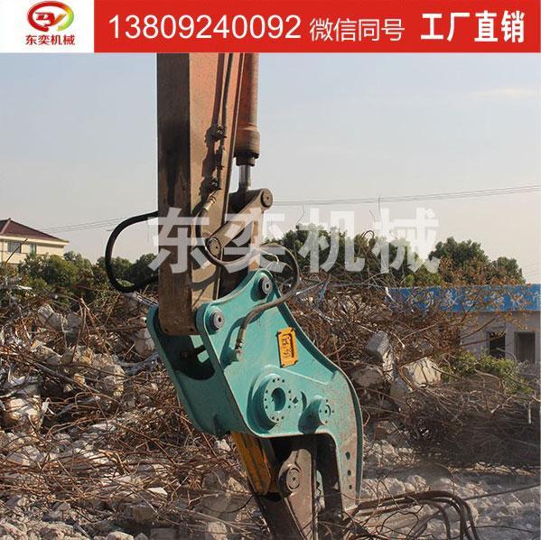 液压粉碎钳作业;粉碎混凝土、房梁钢筋分离