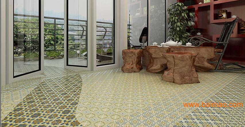 """印象""""花砖系列产品广泛应用于高档住宅的内外墙,卫生间,厨房,阳台图片"""