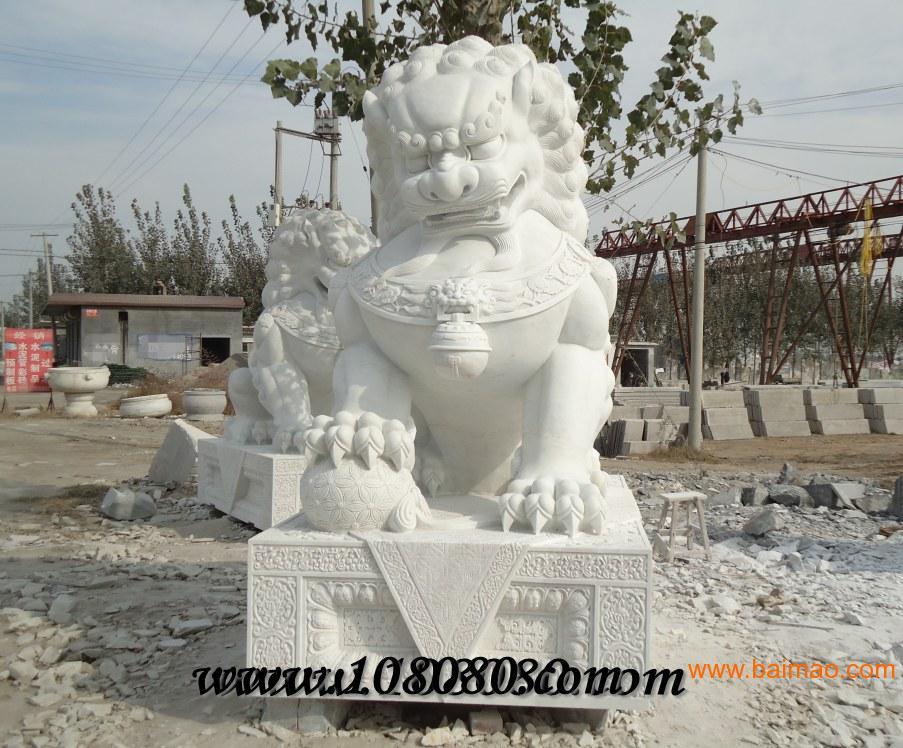汉白玉石狮子/武汉石狮子