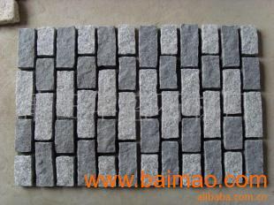 芝麻灰白G654 G603花岗岩组合网贴石地铺,芝麻灰白G654 G603花岗