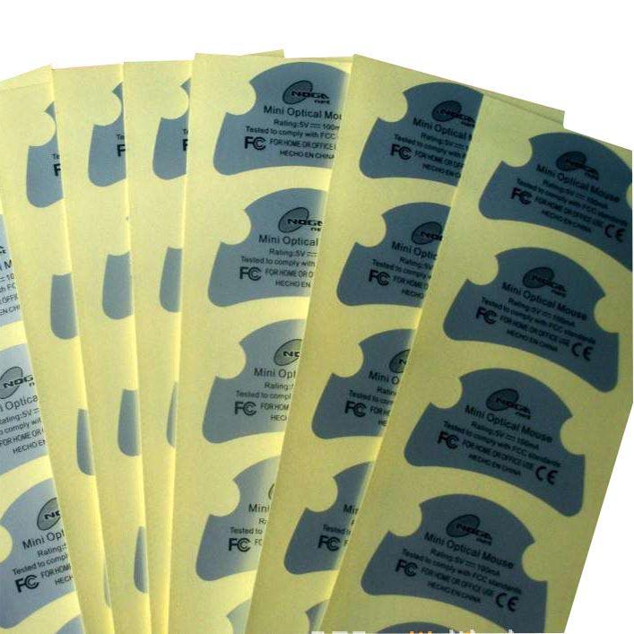 pvc不干胶标签定制印刷/纱织品标签