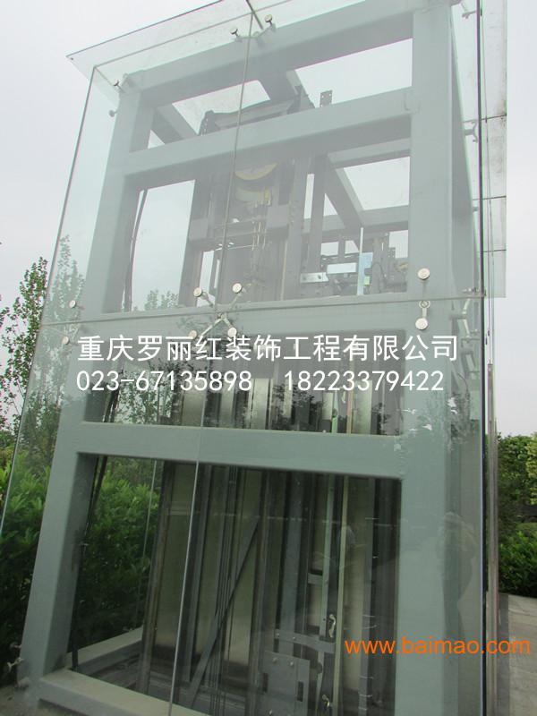 重庆观光电梯玻璃点驳接爪幕墙,重庆观光电梯玻璃点驳接爪幕墙生