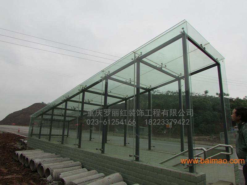 重庆玻璃雨棚 人防车库出入口雨棚