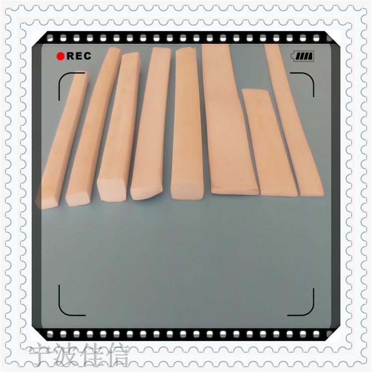 耐高温硅胶发泡平条海绵条半圆矩形防撞条烤箱烘箱减震