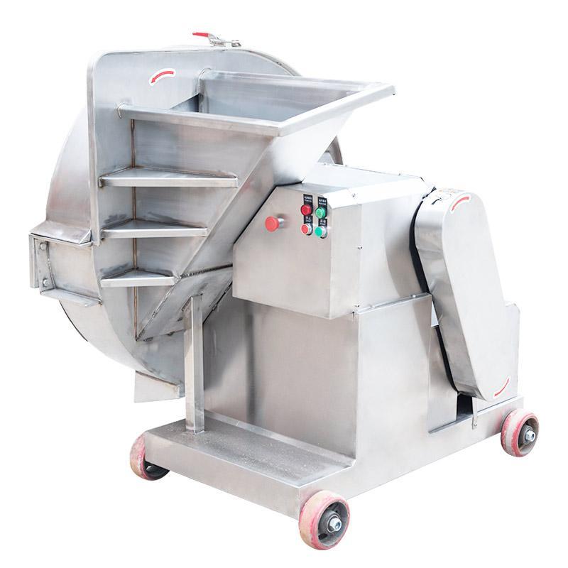 河南山东广东冻猪牛羊肉块刨片切片的机器大型商用