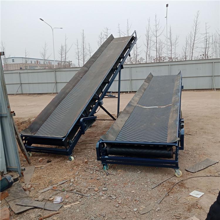 濟寧糧食輸送機 定做圍擋大傾角刮板皮帶機