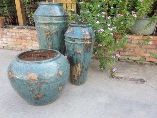 园林景观陶罐