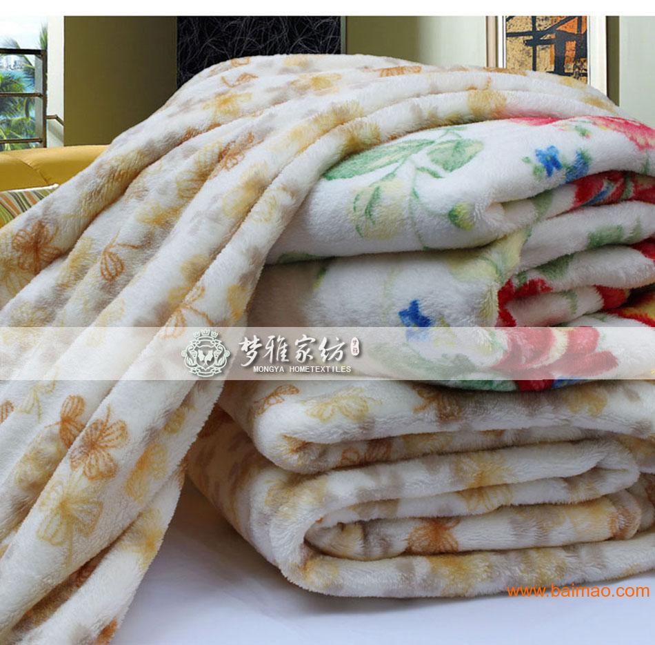 过年员工福利礼品,新年礼品 毯子印花毛毯加厚