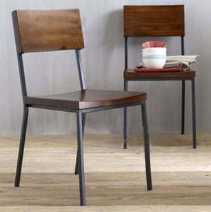铁艺实木办公椅
