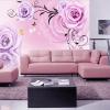 定制美容院美甲店养生馆客厅电视背景墙壁画环保墙布