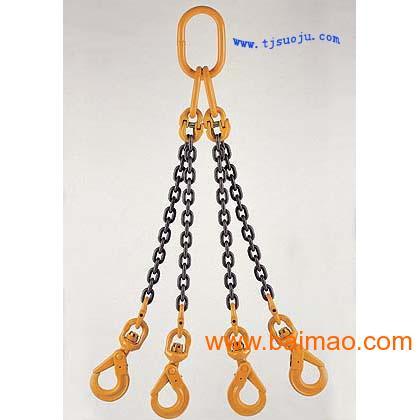 吊具制造强度-高吊车双肢钣金链条、成套吊具机箱索具专用图片