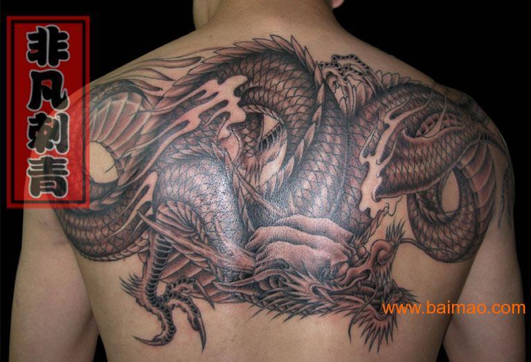手臂龙图腾纹身手稿内容图片分享图片