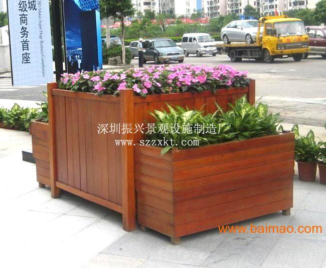 贵州景区木制花盆花箱花车厂家直销 低价出售,贵州景区木制花盆花箱