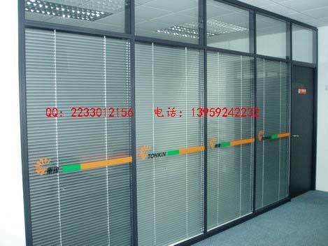 办公室高隔墙 形象墙 玻璃高隔间
