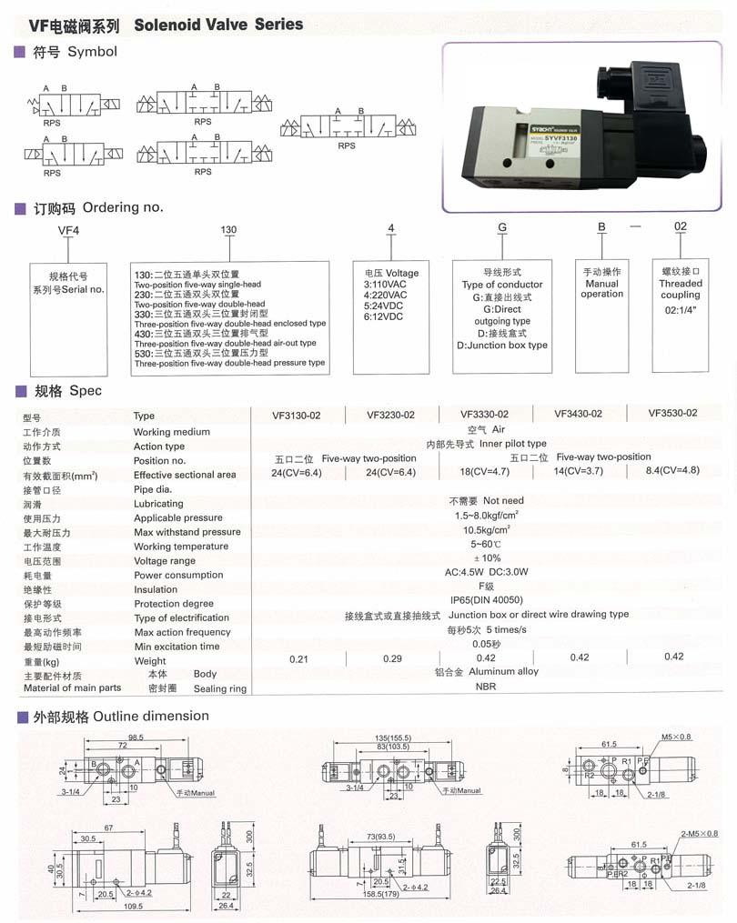 4v210-08二位五通气动电磁阀批发–4v210-08二位五通图片