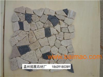 黑色白色大理石碎拼马赛克天然石材自由石厂家/批发/供应商