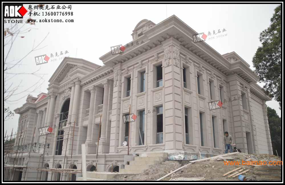 干挂石材 别墅石材 外墙干挂 欧式建筑石材 效果图图片