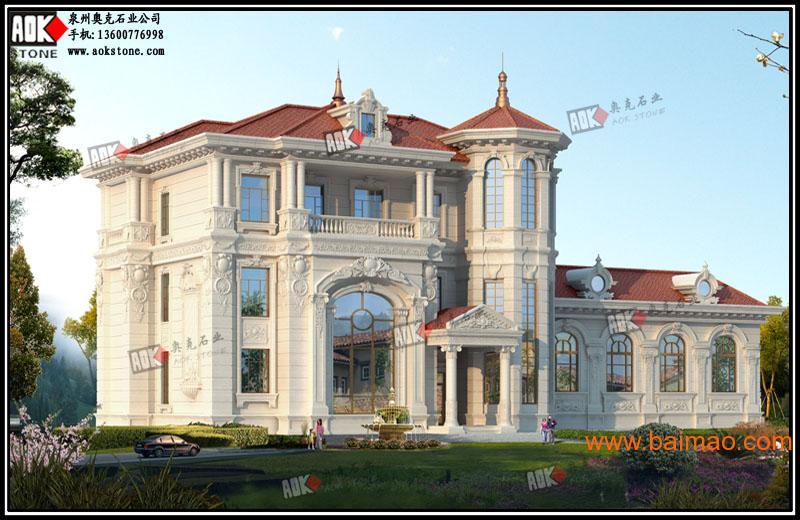 别墅效果图 石材干挂 欧式建筑图片