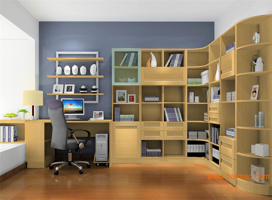 整体书柜定制厂家|整体书柜样式|整体书柜效果图图片