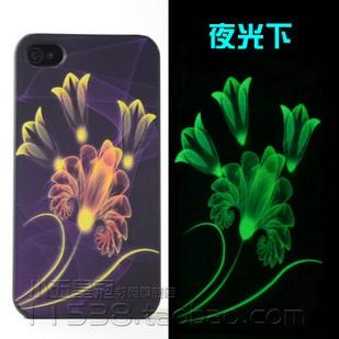 iphone4/5夜光浮雕手机保护壳,新漆雕工艺