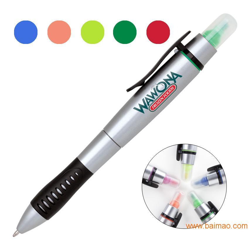 订制多功能圆珠笔,办公用品笔,印字塑料笔