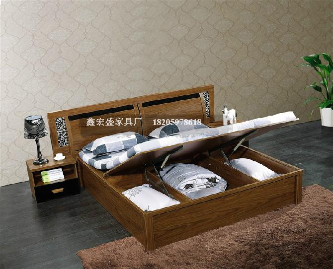 实木高箱床