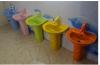 幼儿园儿童陶瓷立柱盆/洗手盆/儿童陶瓷洗脸盆单孔盆
