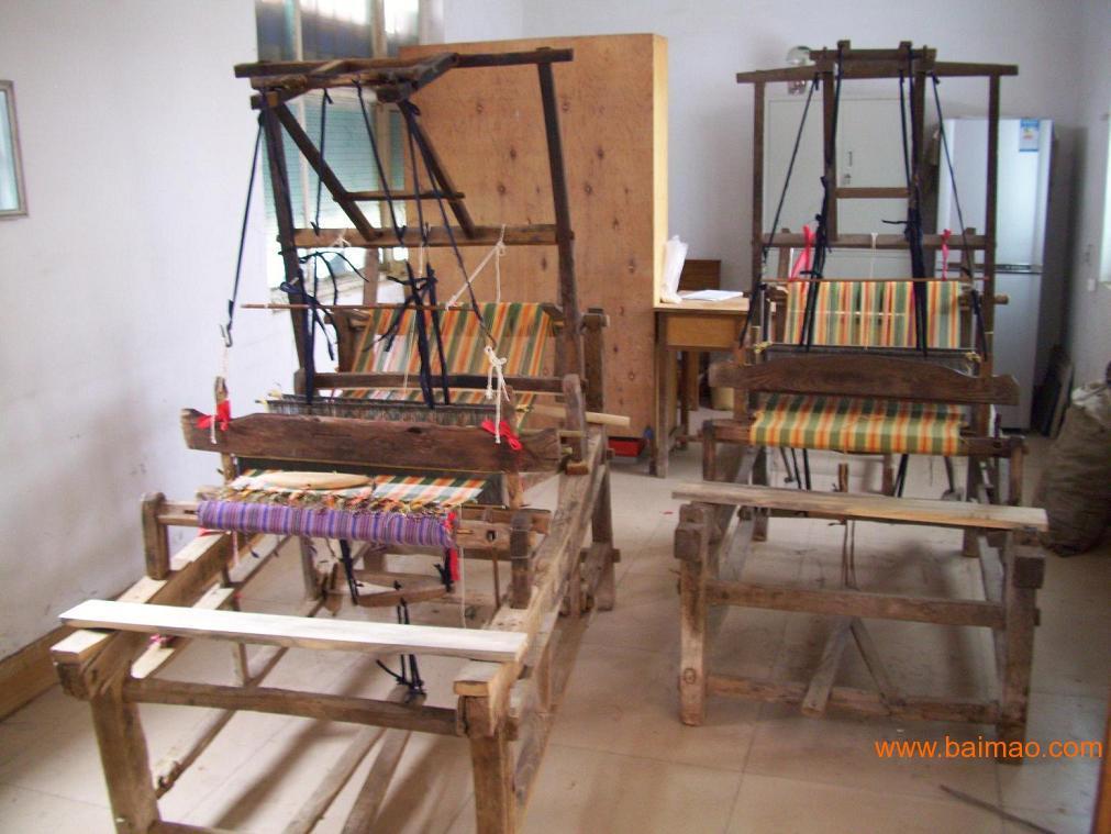 手工织布机_淄博手工织布机_手工织布机销售  老式传统织布机农家乐图片