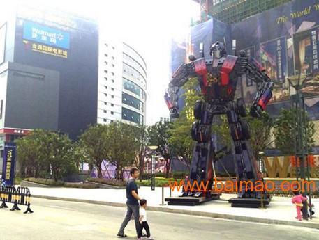 大型变形金刚机器人威震天第三代金属汽车模型高度3米